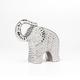 Éléphant en céramique martelé 8po