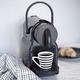Machine à capsules Nespresso «Inissia» noire par Delonghi