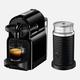 Machine à capsules Nespresso «Inissia» noire et Aeroccino par Delonghi