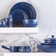 Vaisselle bleue collection « Le Gourmet »
