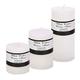 Bougies parfumées au coton blanc « Elegant »