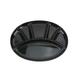 Plat à fondue ovale noir « Swiss Cross »