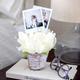 Pivoine avec vase en argile ar Gino Signature