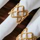 Anneau à serviette doré « Lattice »