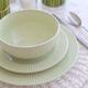 Ensemble de vaisselle 12 pièces «Linen» par LC Maison