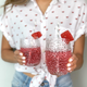 Pichet et ensemble de verres à relief