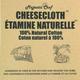 Étamine naturelle en coton (1,7 m)