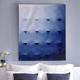 Tableau « Blue Octagons » par Adlan Kaezar