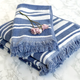 Serviettes à franges collection « Multi Stripe »