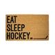 Tapis d'extérieur « Eat, Sleep, Hockey »