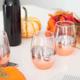 Verres à vin ombrés