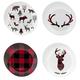 Ensembles de 4 assiettes nordiques - styles assortis