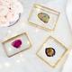 Boîte à bijoux en verre avec agate