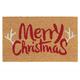 Paillasson imprimé «Merry Christmas» à ramures
