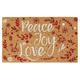 Paillasson «Peace, Joy, Love»