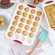 Moule à mini-muffins Trudeau structure silicone confetti