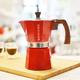 Cafetière à espresso Grosche «Milano» rouge - 6 tasses