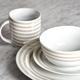 Ensemble de vaisselle 16 pièces «Bristol Stripe» par LC Studio