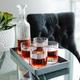 Ensemble carafe et verres à whisky «Bach» par Luigi Bormioli