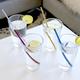 Ensemble de 4 pailles à cocktail avec brosse