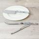 Ensemble de 3 couteaux à Fromage à effet marbre «Laguiole» par Jean Dubost