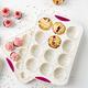 Moule à 12 muffins en forme de dôme «Confetti» par Trudeau
