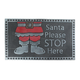 Paillasson «Santa Please Stop Here»