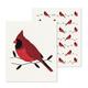 Ensemble de 2 lavettes suédoises réutilisables à motif de cardinal