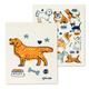 Ensemble de 2 lavettes suédoises réutilisables à motif canin