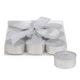 Ensemble de 9 bougies argentées «Glitter»
