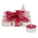 Ensemble de 9 bougies rouges «Glitter»
