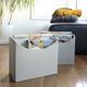Panier de rangement pliable beige par Home Essentials