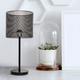 Lampe de table noire «Audette»
