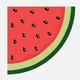 Serviettes rondes melon d'eau