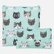 Ensemble de 2 sacs à collation«chats»