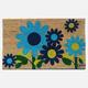 Paillasson fleur bleue