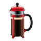 Cafetière à piston Bodum «Chambord» rouge