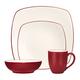 Ensemble de vaisselle 4 pièces « Colorwave » framboise par Noritake