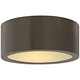 Hinkley Luna 8 inch Wide Bronze LED Outdoor Ceiling Light