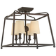 Crystorama Sylvan 16 inch Wide 4-Light Dark Bronze Ceiling Light