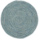 Sea Pottery 0110CS400 7'6 inch Round Blue Outdoor Area Rug