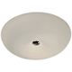 Varaluz Swirled 18 inch Wide White Opal Glass LED Ceiling Light
