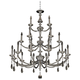 Allegri Floridia 42 inch Wide Chrome 21-Light Chandelier
