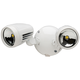 Brookdale 2-Light Dusk to Dawn LED Security Light in White