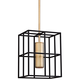 Lagrange 9 1/2 inch Wide Aged Brass and Black Mini Pendant