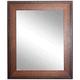 Timber Estate Walnut 29 1/2 inch x 35 1/2 inch Wall Mirror