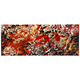 Cinders Red and Orange Paint 48 inch Wide Metal Wall Art