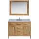 London 48 inch Carrara Marble Honey Oak Single Sink Vanity Set