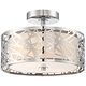 Platinum Collection Abode 12 inch Wide Polished Chrome Ceiling Light