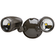 Brookdale 2-Light Dusk to Dawn LED Security Light in Bronze